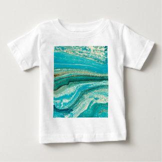 Camiseta De Bebé Menta, oro, mármol, naturaleza, piedra, modelo,