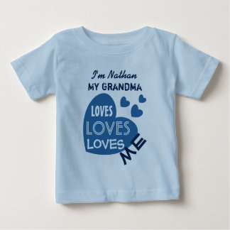 Camiseta De Bebé Mi ABUELA me ama el texto de encargo V06 de los