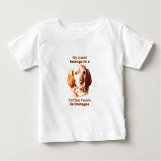 Camiseta De Bebé Mi corazón pertenece a un Griffon Fauve de Bretaña