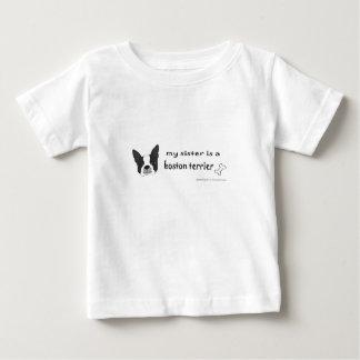 Camiseta De Bebé mi hermana es un terrier de Boston