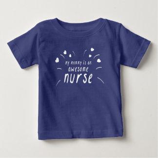 Camiseta De Bebé Mi mamá es enfermera impresionante