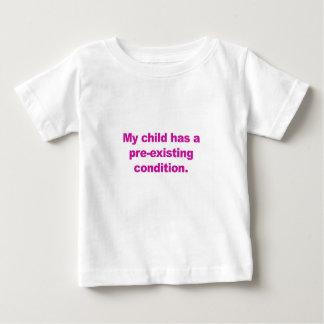 Camiseta De Bebé Mi niño tiene una condición preexistente