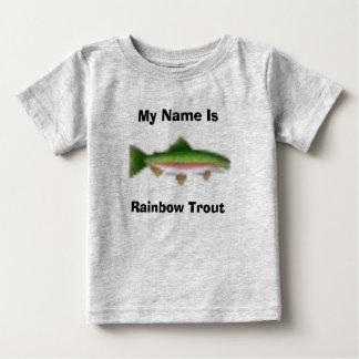 Camiseta De Bebé Mi nombre es, trucha arco iris