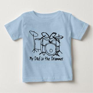 Camiseta De Bebé Mi papá es el batería
