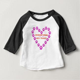 Camiseta De Bebé MI perro 's ES NO ESTROPEADO yo ESTÁ APENAS BIEN
