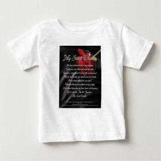 Camiseta De Bebé Mi poster dulce de la poesía de la maravilla