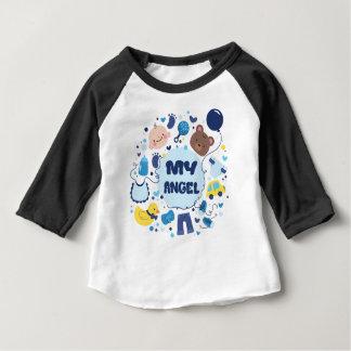 Camiseta De Bebé Mi raglán de la manga del bebé del ángel