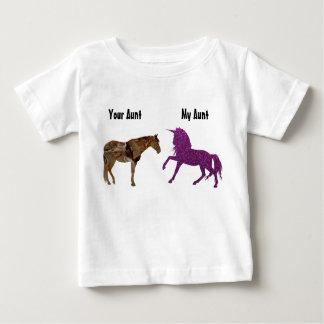 Camiseta De Bebé Mi unicornio de la púrpura de tía Your tía Horse