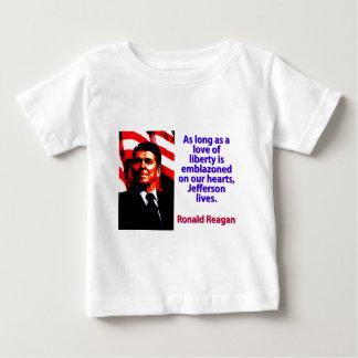 Camiseta De Bebé Mientras un amor de la libertad - Ronald Reagan