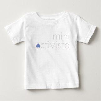 Camiseta De Bebé Mini azul de Lactivista del cuerpo