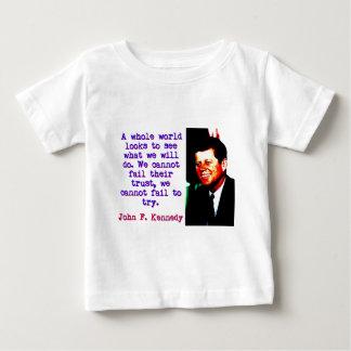 Camiseta De Bebé Miradas enteras de un mundo - John Kennedy