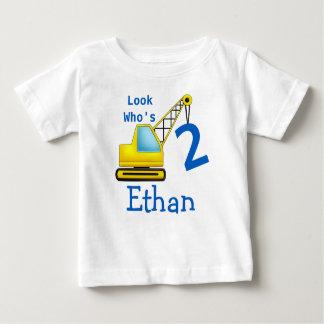 Camiseta De Bebé Mire quién es 1 segundo coche de la construcción