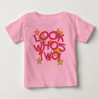Camiseta De Bebé ¡Mire quién es dos!