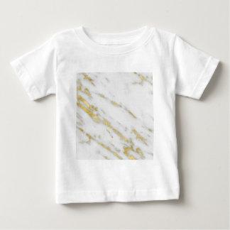 Camiseta De Bebé Moda color de rosa del mármol del oro
