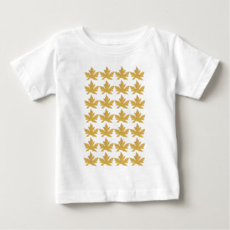 Camiseta De Bebé Modelo amarillo de la hoja