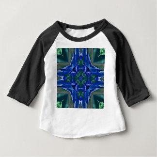 Camiseta De Bebé Modelo bonito de la forma de la cruz del azul real