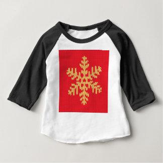 Camiseta De Bebé Modelo hecho punto del copo de nieve