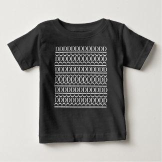 Camiseta De Bebé Modelo inicial del monograma, letra D en blanco