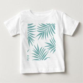 Camiseta De Bebé Modelo tropical verde delicado de las hojas