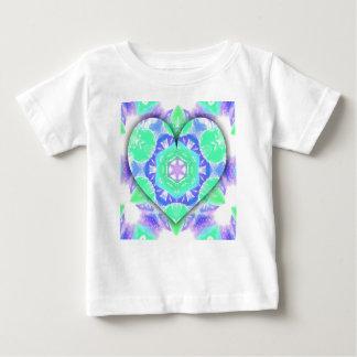 Camiseta De Bebé Modelos en forma de corazón frescos de la verde