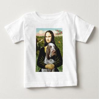 Camiseta De Bebé Mona Lisa - italiano Spinone (10) melado