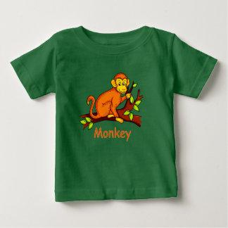 Camiseta De Bebé Mono del ejemplo del vector