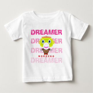 Camiseta De Bebé Mono-Morocko Soñador-Lindo