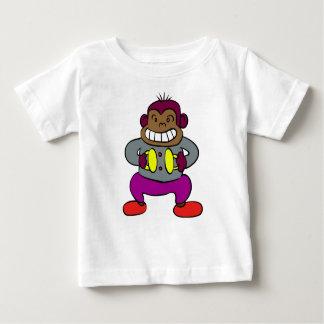 Camiseta De Bebé Mono retro con el juguete de los platillos