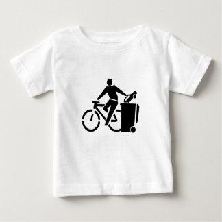 Camiseta De Bebé Monte una bici no un coche