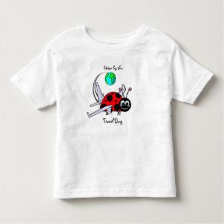 Camiseta De Bebé Mordido por el insecto del viaje - aeroplano de la