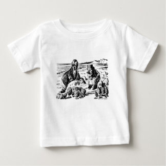Camiseta De Bebé Morsa, Carpeter y ostras