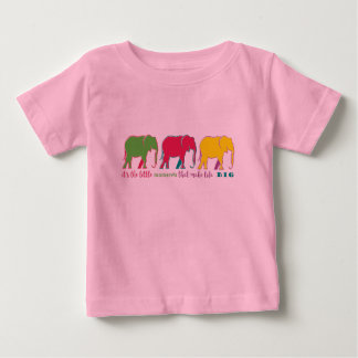 Camiseta De Bebé Motivación de neón de la inspiración de la silueta