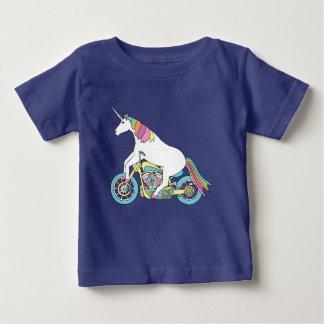Camiseta De Bebé Motocicleta del montar a caballo del unicornio