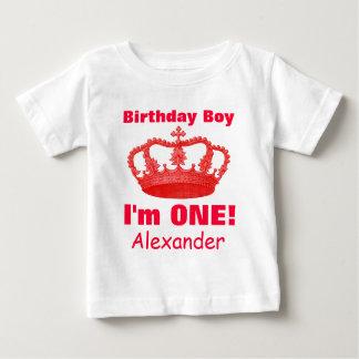 Camiseta De Bebé ¡Muchacho del cumpleaños con la corona soy UNA!