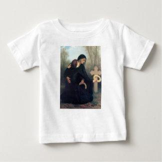 Camiseta De Bebé Mujeres góticas Bouguereau de la cruz negra del
