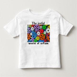 Camiseta De Bebé Mundo alegre de los engranajes coloridos de la