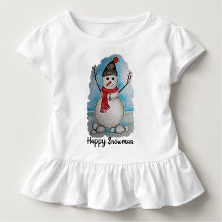 Camiseta De Bebé Muñeco de nieve magnífico de la acuarela con la