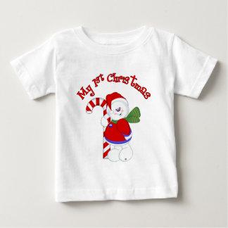 Camiseta De Bebé Muñeco de nieve y navidad de Candycane 1r