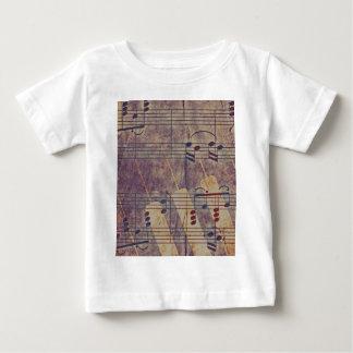 Camiseta De Bebé Música, apariencia vintage B