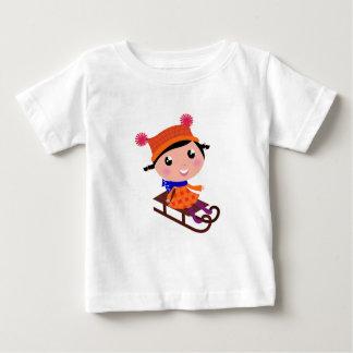 Camiseta De Bebé Naranja del chica del patinaje de hielo