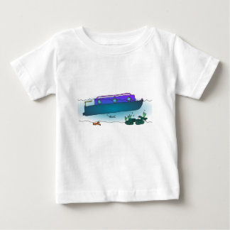 Camiseta De Bebé Narrowboat hundido