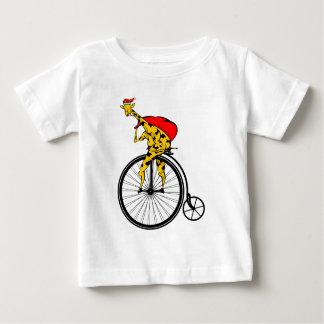 Camiseta De Bebé Navidad de Papá Noel de la jirafa
