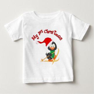 Camiseta De Bebé Navidad del esquí del pingüino 1r