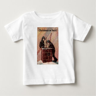 Camiseta De Bebé Navidad o busto, foto de la antigüedad del barrido