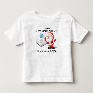 Camiseta De Bebé Navidad personalizado del bebé o del niño