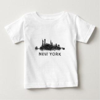 Camiseta De Bebé New York Dark-White Skyline v07