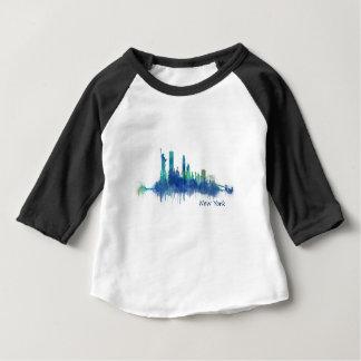 Camiseta De Bebé New York Skyline Watercolor blue v05