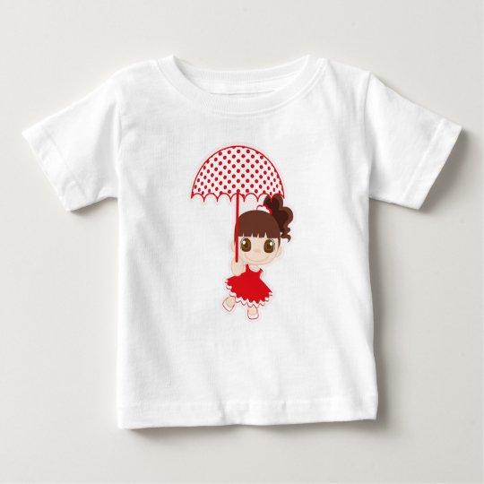 Camiseta De Bebé Niña con paraguas