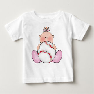 Camiseta De Bebé Niña del béisbol de Lil