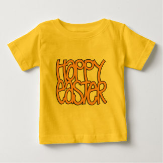 Camiseta De Bebé Niño feliz del naranja de Pascua